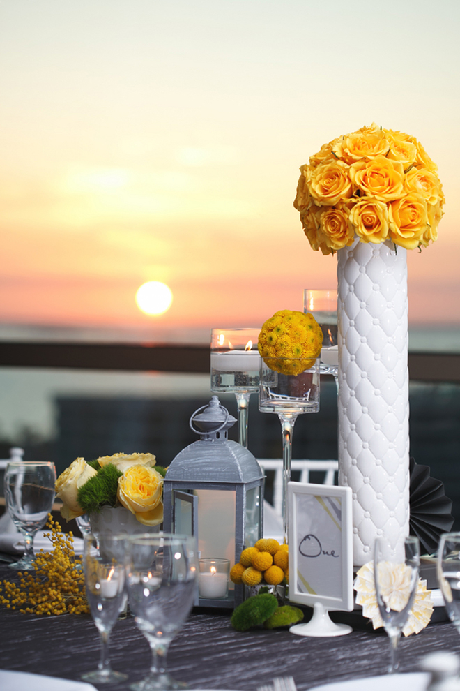 Yellow grey contemporary wedding in florida belle the