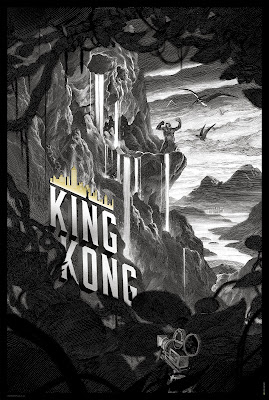 King Kong Standard Edition Black and White Screen Print by Nicolas Delort
