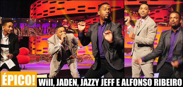 Will e Jaden Smith, DJ Jazzy Jeff e Alfonso Ribeiro juntos no The Graham Norton Show