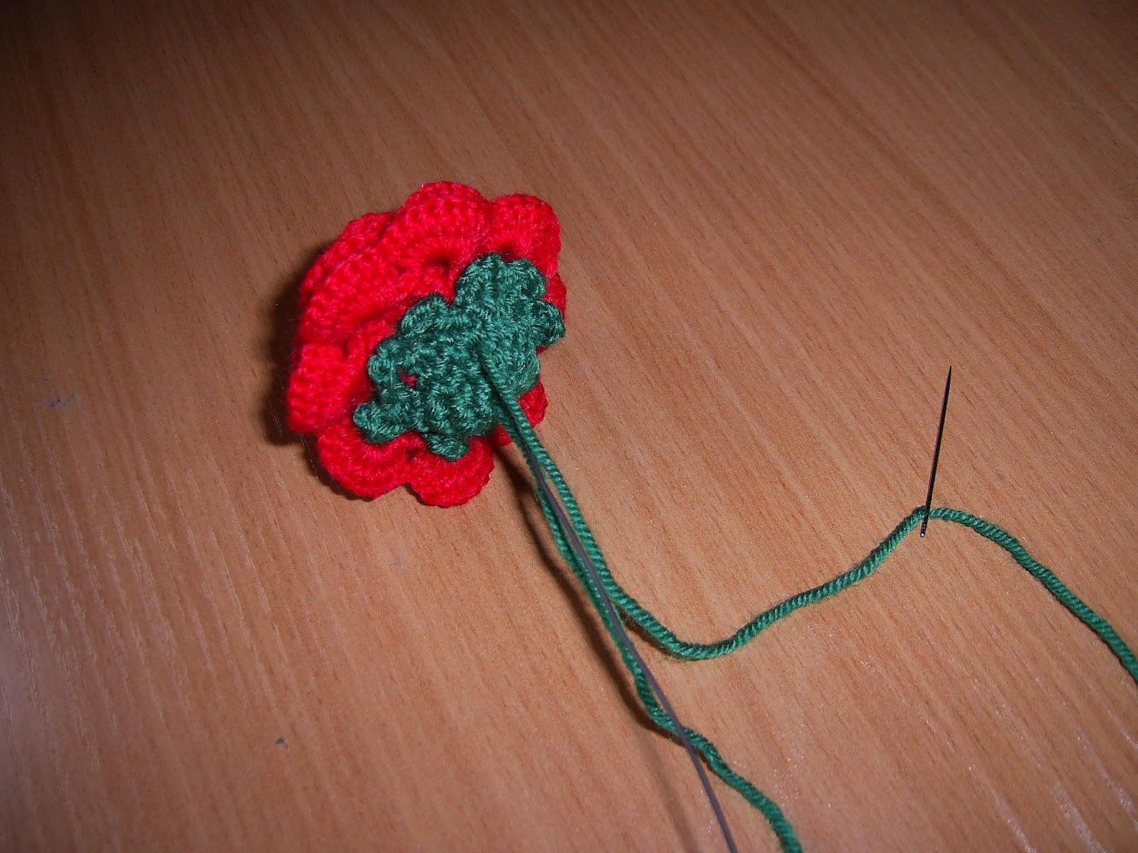 Роза крючком для начинающих фото