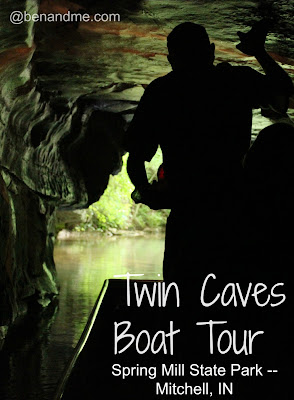 Indiana field trip to Spring Mill State Park -- Twin Caves Boat Tour. #homeschool #travel #educationaltravel #indiana #springmillstatepark