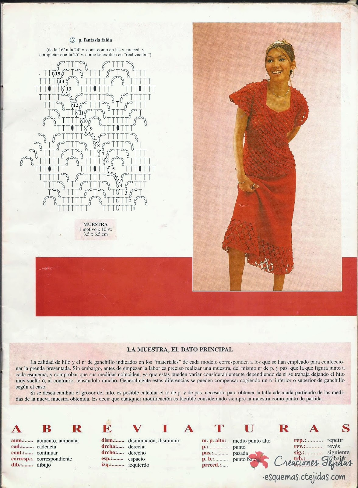 Conjunto Rojo a Crochet