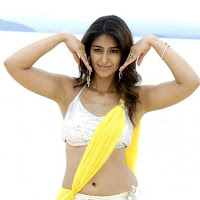 Actress Ileana in Beach Yellow Short Saree Stills