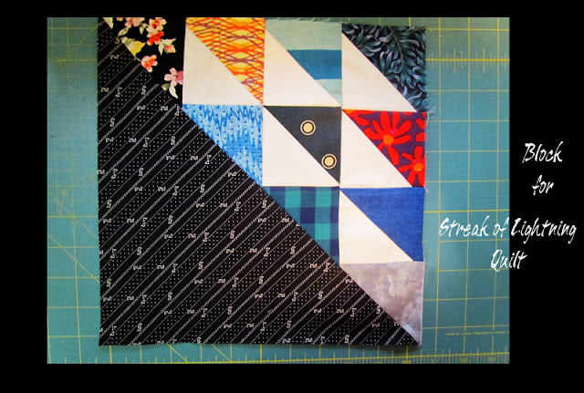 Streak of Lightning quilt block