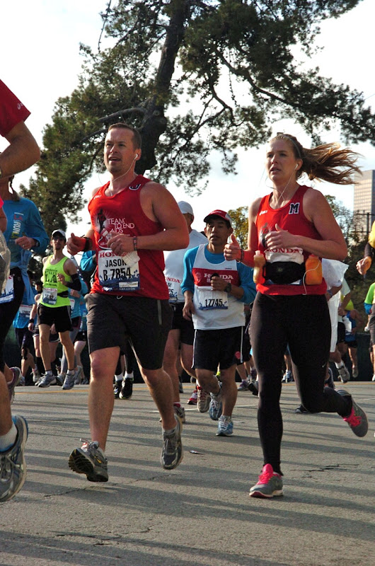 LA Marathon 2012 T2 runners