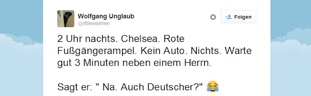 Tweet des Tages: Ordnung muss sein bzw. typisch deutsch