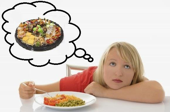 triste de estar siempre a dieta