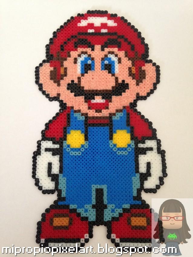 Mi Propio Pixel Art con Hama Beads: Marco de fotos Mario Bros