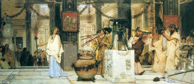 festival,ancient greece, tadema