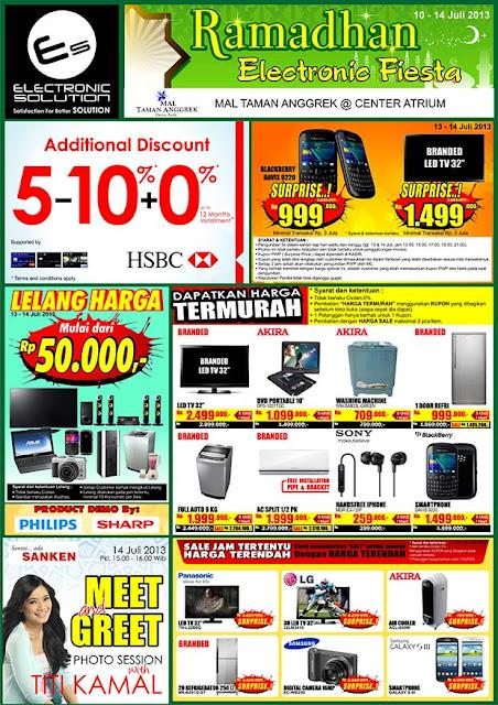 Katalog Promo Electronic Solution Terbaru di Ramadhan Electronic Fiesta Periode 10 – 14 Juli 2013