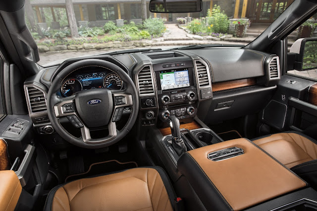 Interior view of Ford F-150