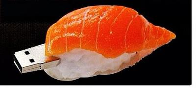 Sushi Bahia: Pen Drive de 4 GB em formato de Niguiri (foto ilustrativa)