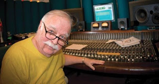 Bruce Swedien at his Harrison console image