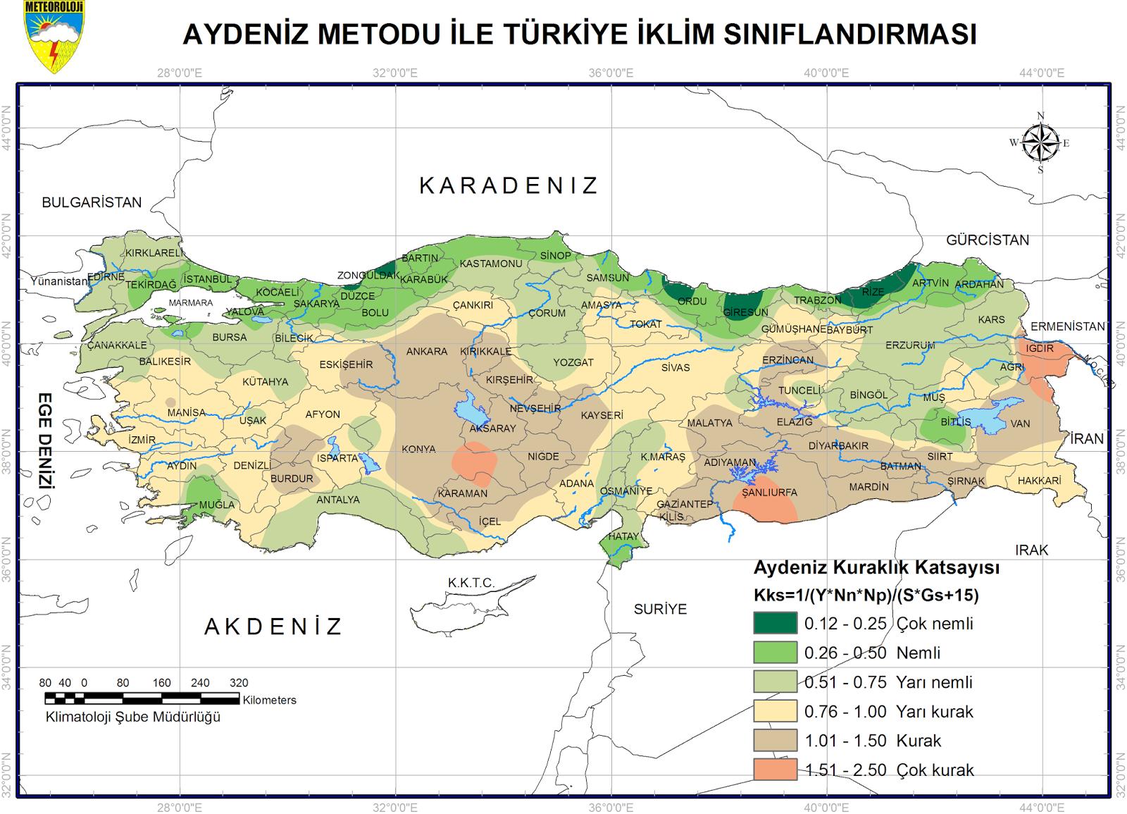 T�rkiye �klim S�n�fland�rmas� Haritalar�