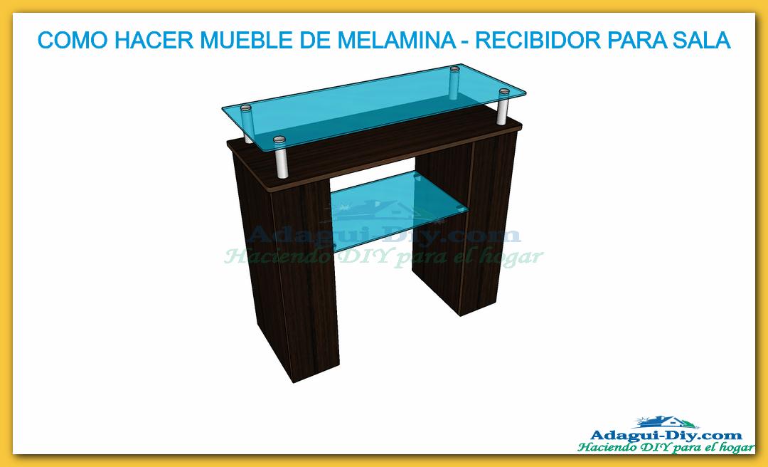 Mueble recibidor de melamina hall furniture diy de cocina for Donde aprender hacer muebles melamina