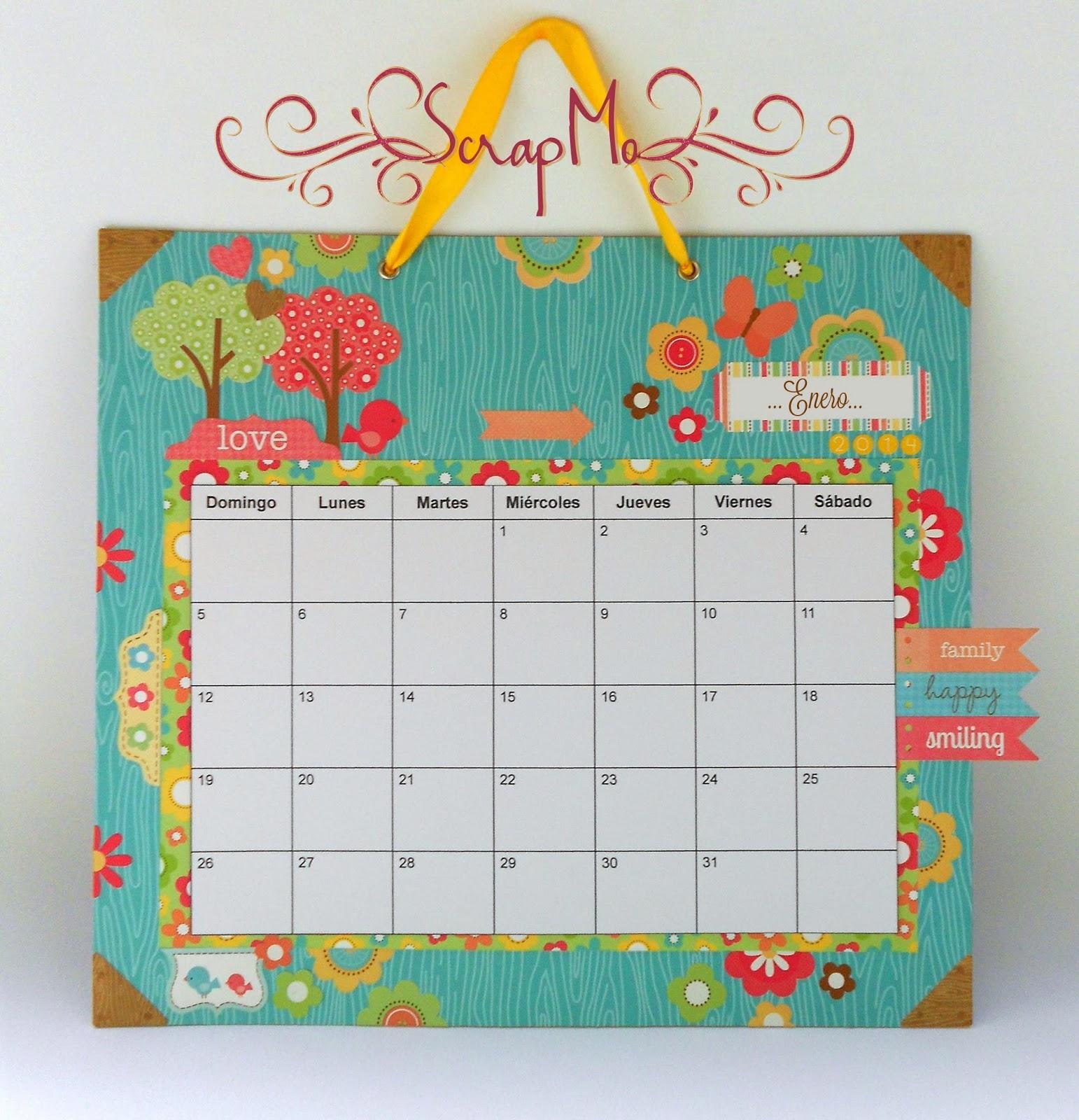 Calendario en foami - Imagui