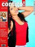 Montagem de fotos capa de revista Contigo