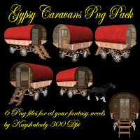 Gypsy caravans PNG Pack, PNG Tubes, PNG Tube files, digital scrapbooking kits