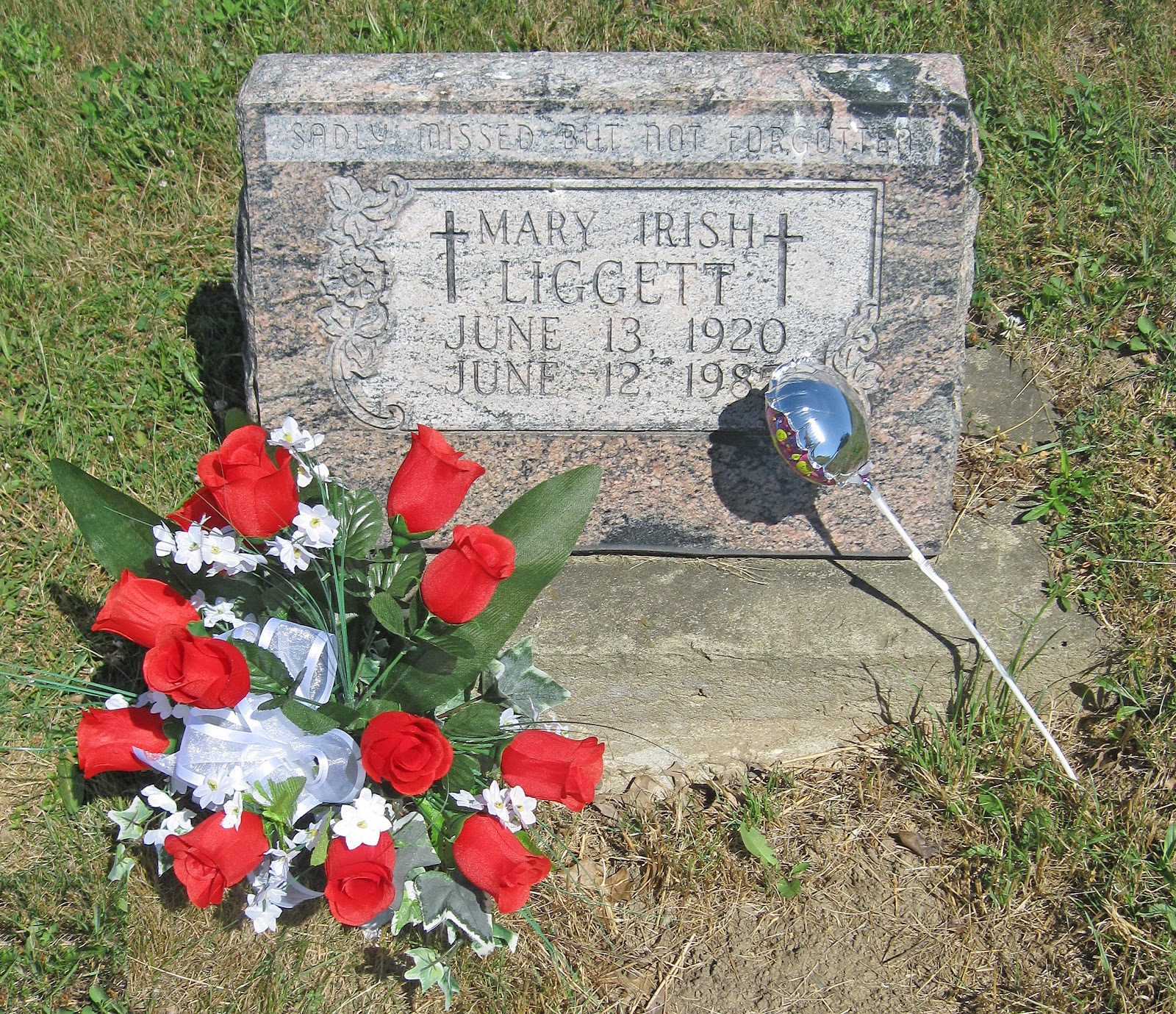Liggett Stuff Flowers Placed At Marys Grave For Birthday