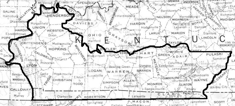 Image Result For Map Of Kentucky
