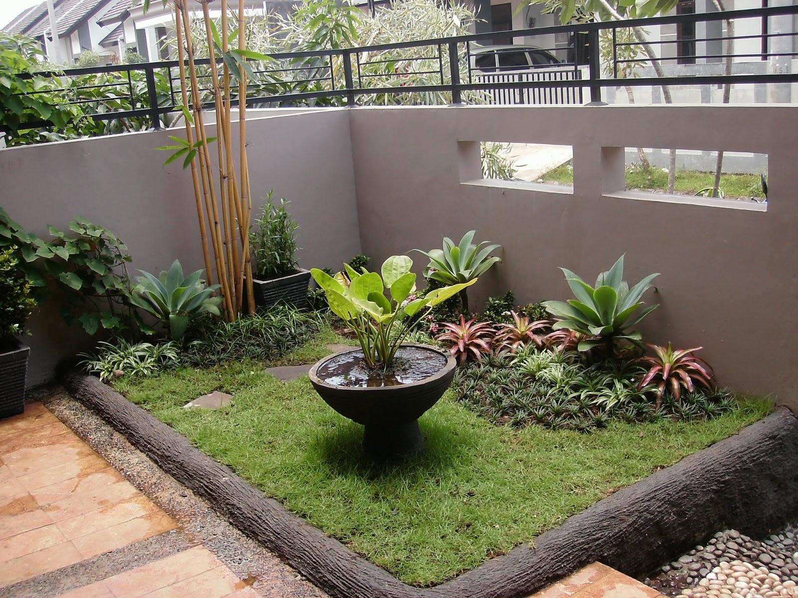 taman sederhana rumah minimalis