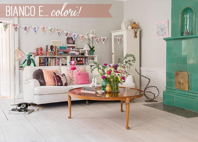 Boho chic bianco e colori home shabby home for Boho style arredamento