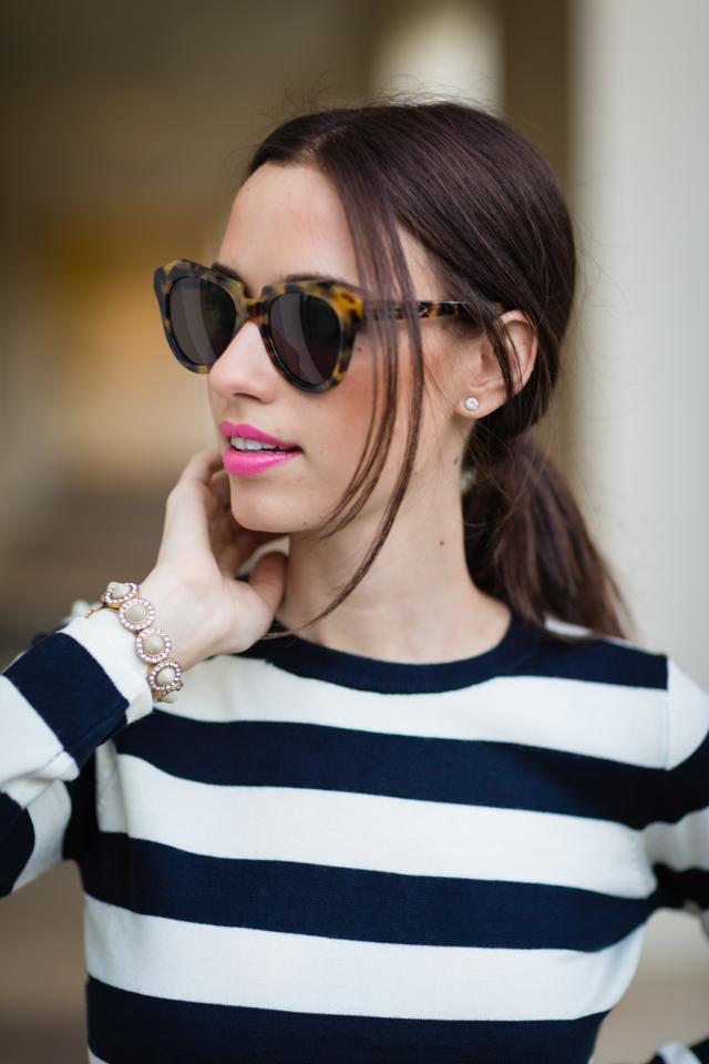 striped top and karen walker number one sunglasses via M Loves M @marmar