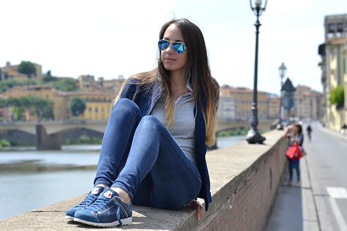giacca felpa blu