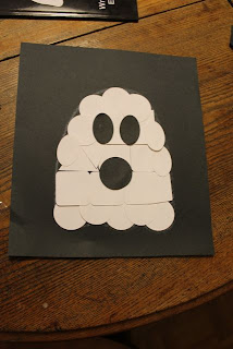 Glue and stick shapes to make ghost