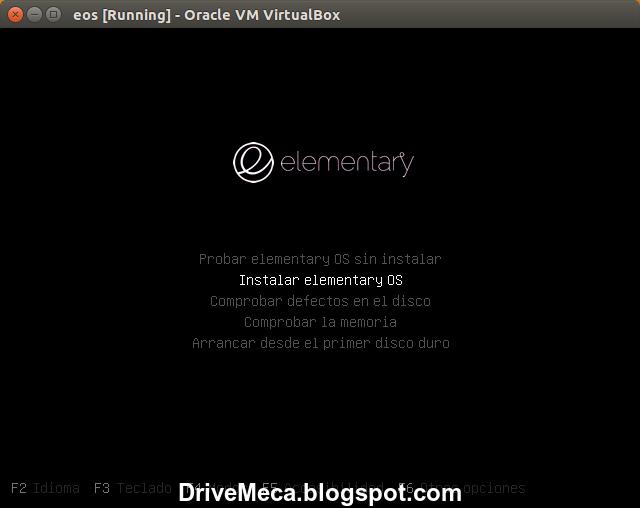 DriveMeca instalando elementaryOS Freya paso a paso