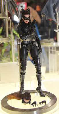 Square Enix Play Arts 2013 Toy Fair Display - The Dark Knight Rises Catwoman figure