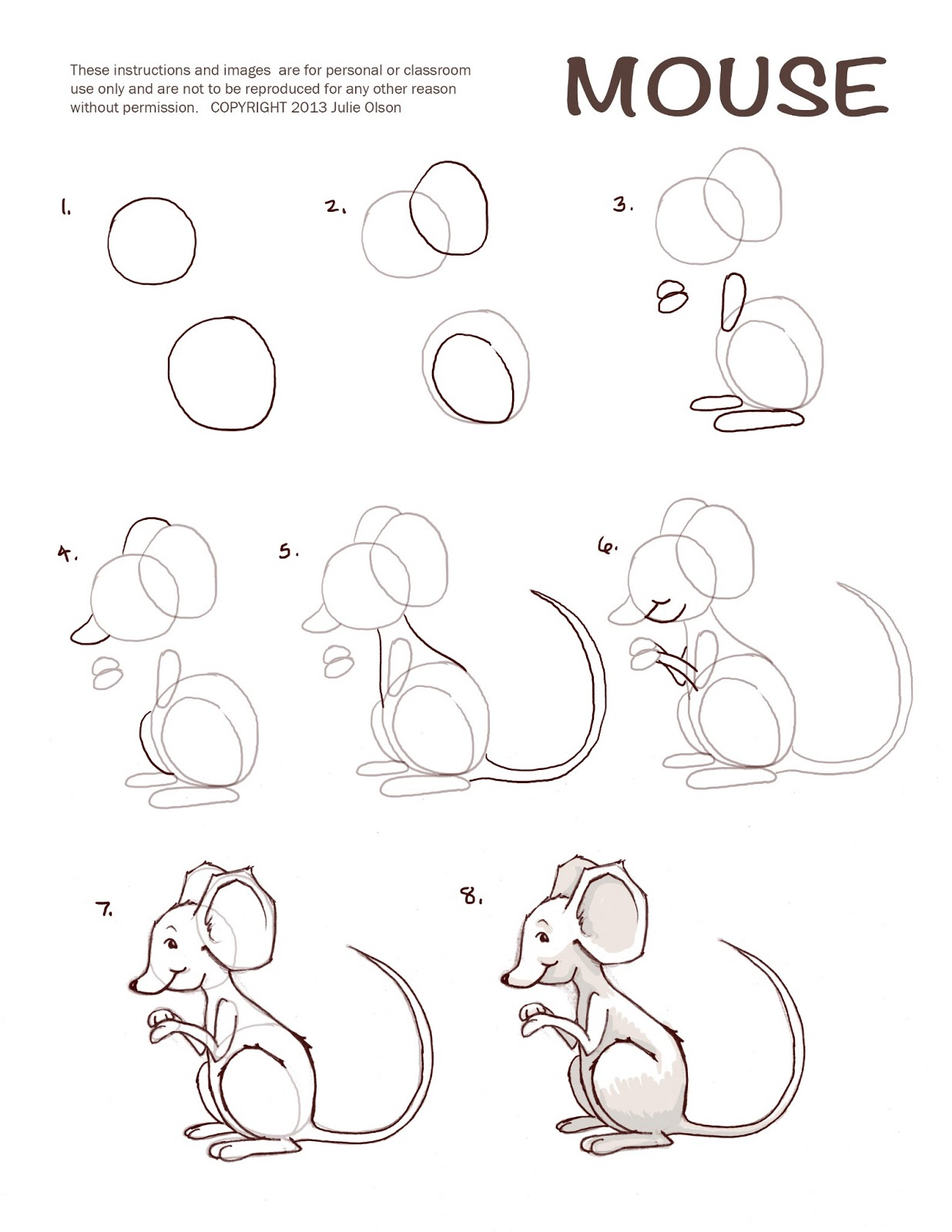 Julie olson books author illustrator printables for How to draw with a mouse