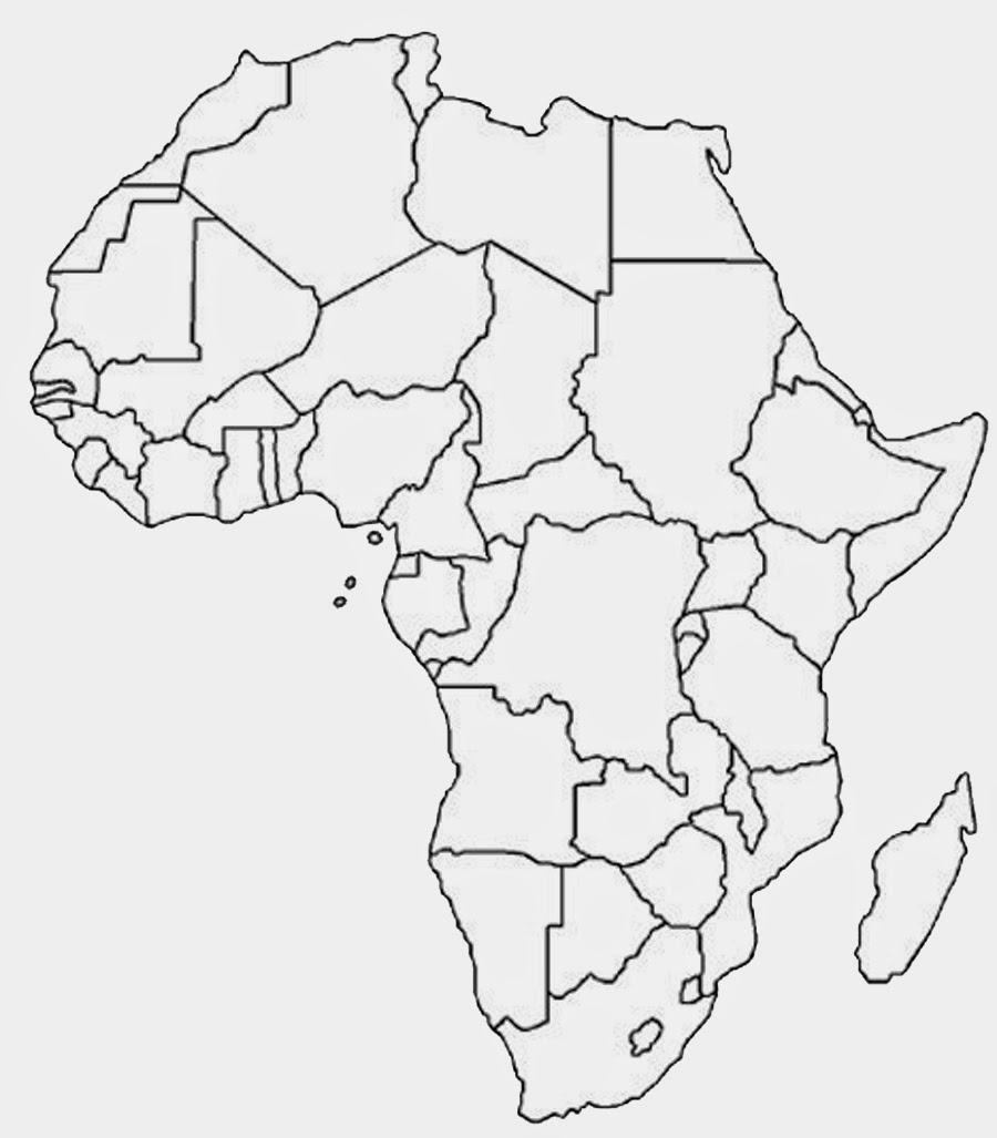 This is a graphic of Modest Printable Map of Africa With Countries