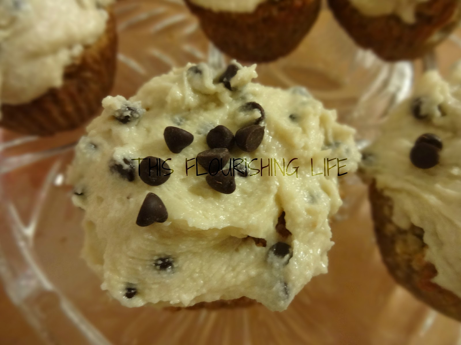 ... Cupcakes With Chocolate Chip Cookie Dough Frosting - This Flourishing