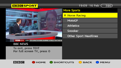 BBC SPORT - MORE SPORT - BBC RED BUTTON - a516digital