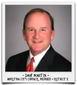 DAVE MARTIN IS CURRENTLY SERVING HIS FIRST TERM IN OFFICE