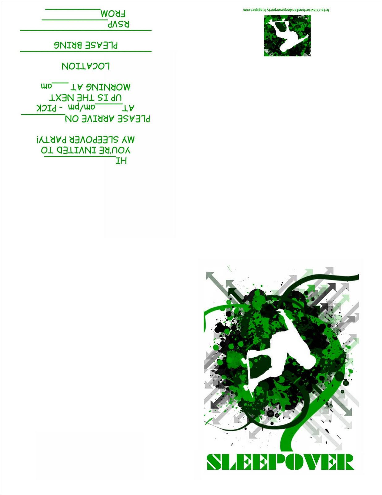 birthday sleepover invitations free printable Baskanidaico