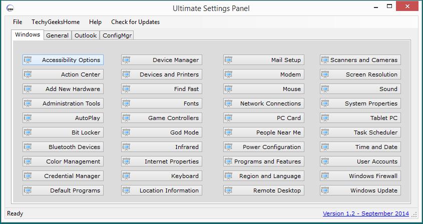 Ultimate Settings Panel