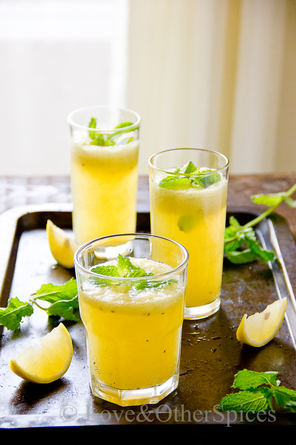 Kiwi Mint Lemonade | LOVE & other SPICES