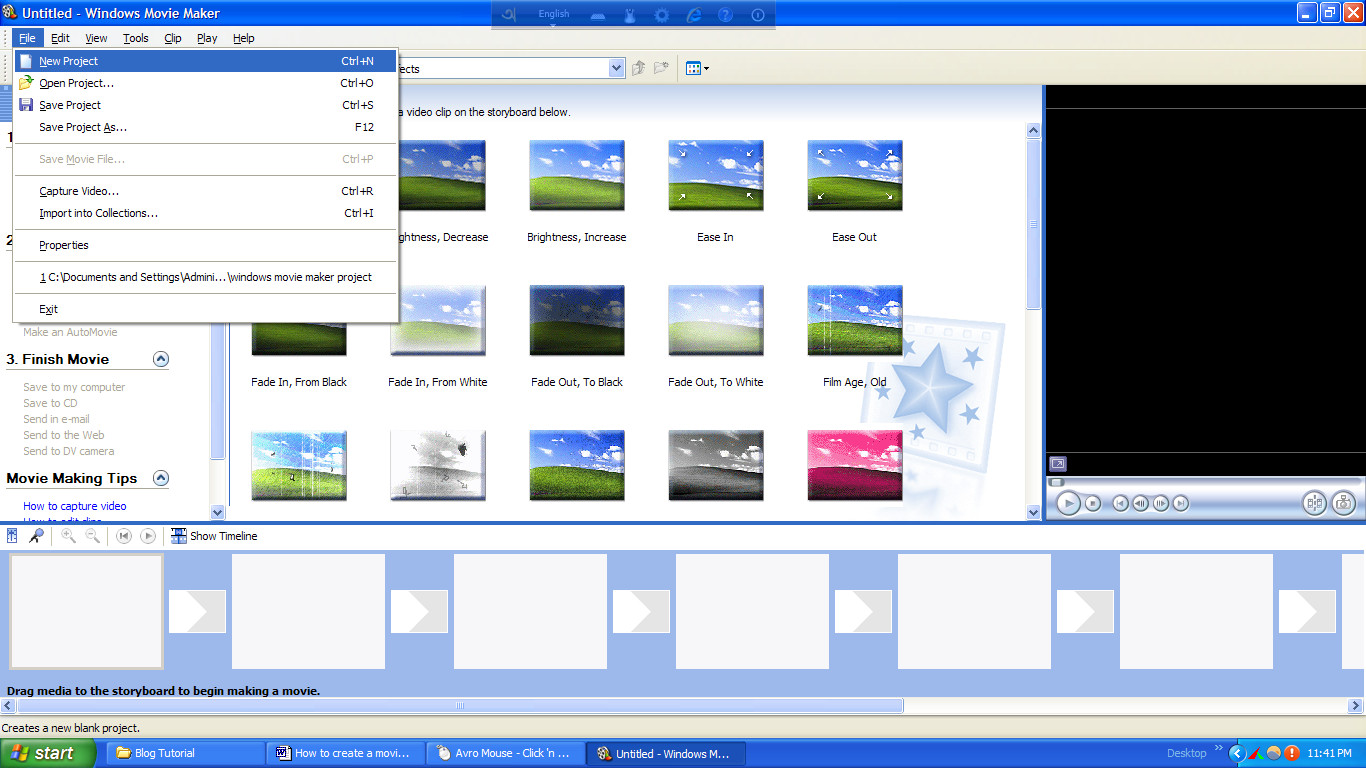 widows movie maker tutorials
