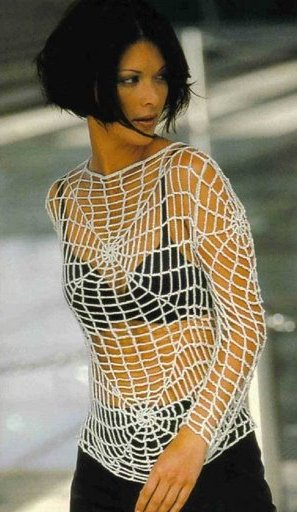 Как связать блузку паутинку