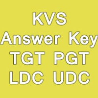KVS Exam Answer Key for 04th October 2015