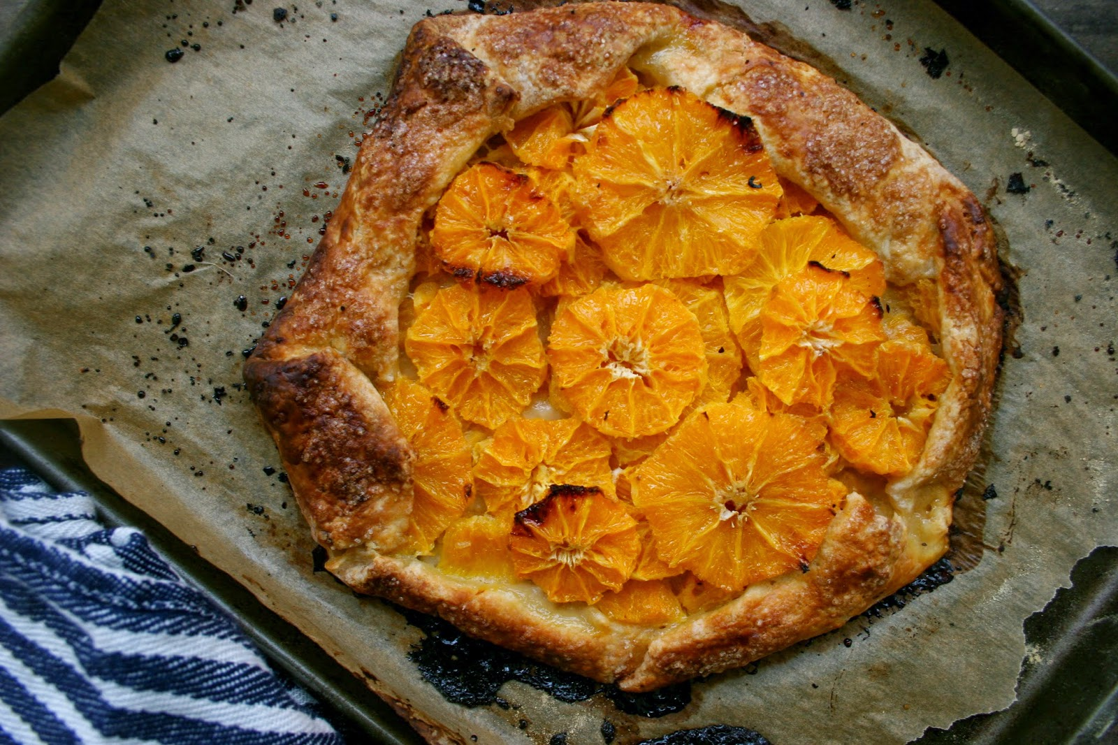 Satsuma Orange Galette with a Cream Cheese Crust