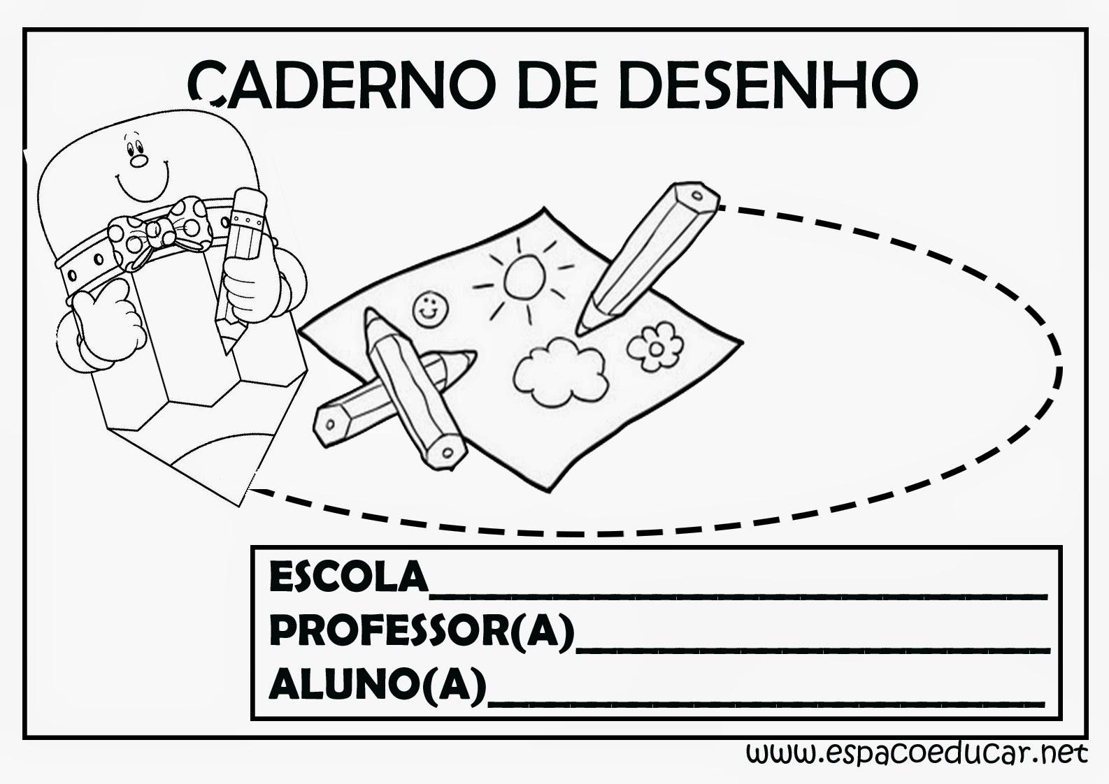 Extremamente ESPAÇO EDUCAR: Capas para caderno ou frentes para caderno prontas  UW29