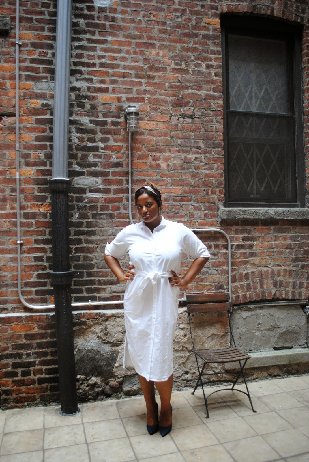 Edie's Closet, White Shirt Dress
