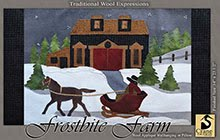 """Frostbite Farm Wool Applique Pillow or Wallhanging 14"""" x 23.5"""