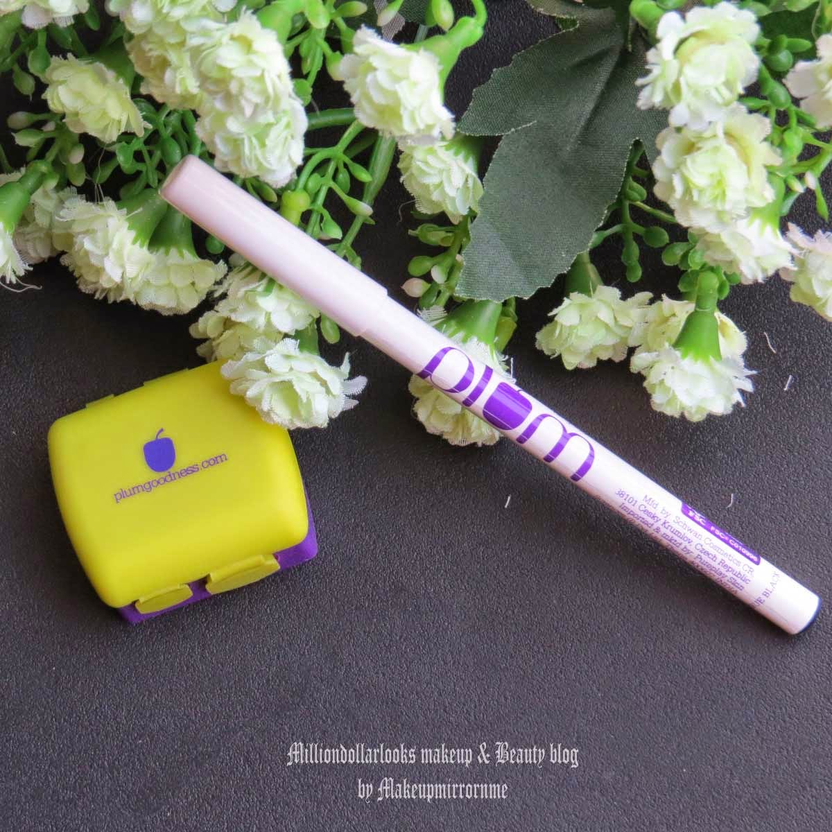 Plum Angel Eyes Kohl Kajal Review, Swatch & Pictures, Kajak review, Herbal kajak, herbal kohl, Indian makeup and beauty blog, Indian makeup blogger, Indian makeup blog, Indian beauty blogger, Kajal review, Kajal for sensitive eyes, Angel eyes, Plum goodness kajal review, Plum goodness review, SLS free skin care brands in India, Paraben free skincare brand in India, Milliondollarlooks makeup and beauty blog, Intense black kajal, Indian kohl rimmed eye makeup