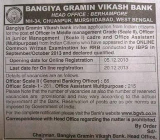 bgvb rrb recruitment advertisement