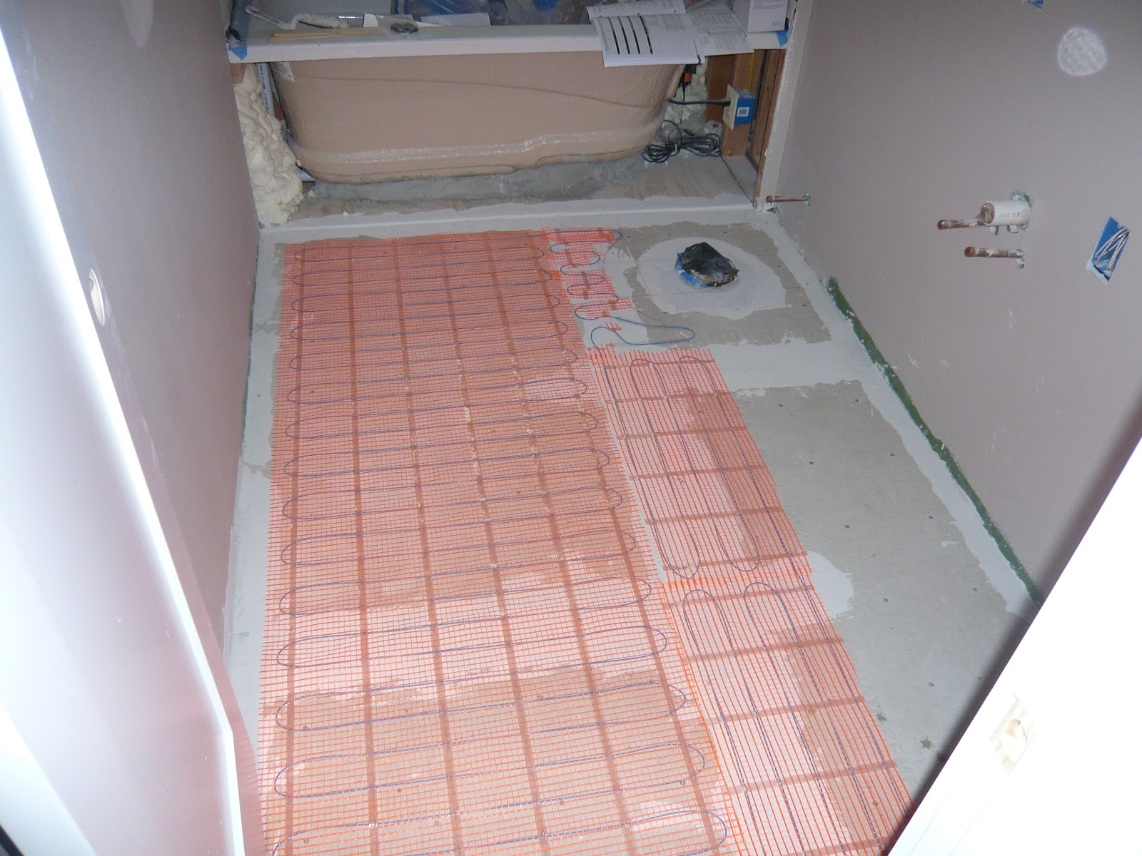 Radiant Floor Heating In Family Left And Master Right Baths I Did