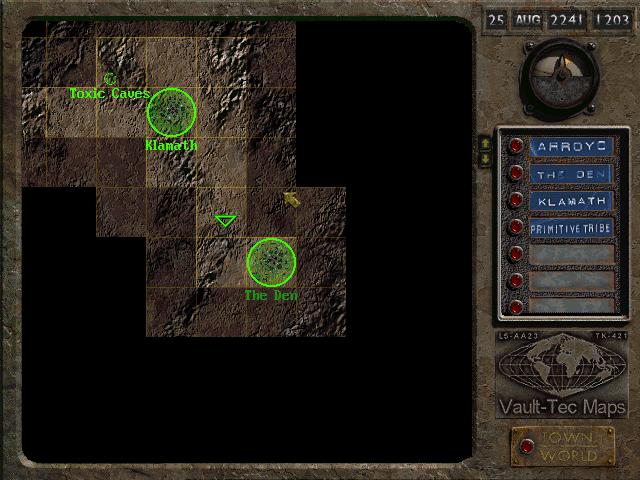 Fallout 3 map oasis carte de fallout 3 - aides de